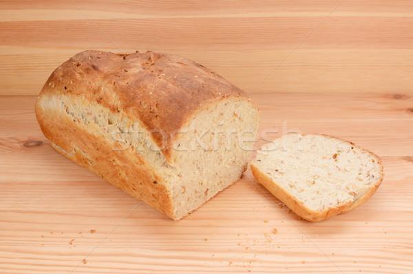 Cortar fatia pão pão Foto stock © sarahdoow