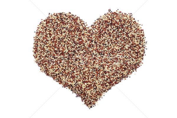 Mixed quinoa in a heart shape Stock photo © sarahdoow