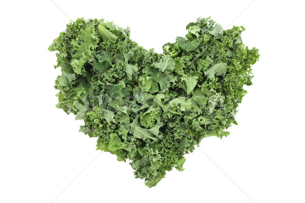 Shredded kale in a heart shape Stock photo © sarahdoow