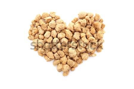Soya protein chunks in a heart shape Stock photo © sarahdoow