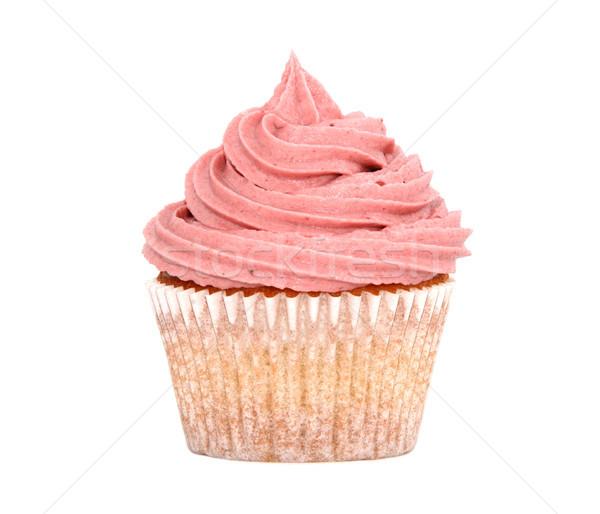 Tasty cupcake with pink frosting Stock photo © sarahdoow