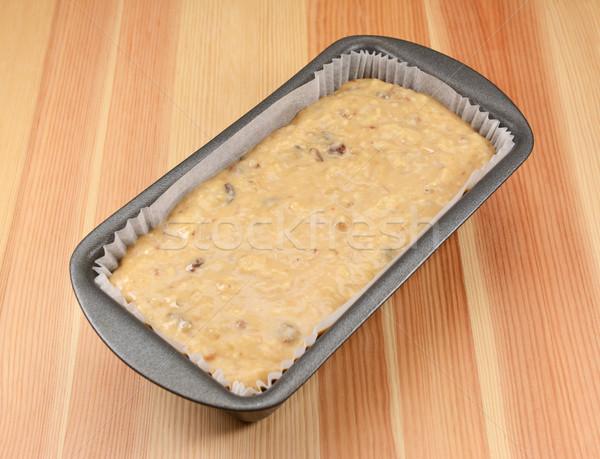 Banana bread batter in a loaf tin Stock photo © sarahdoow