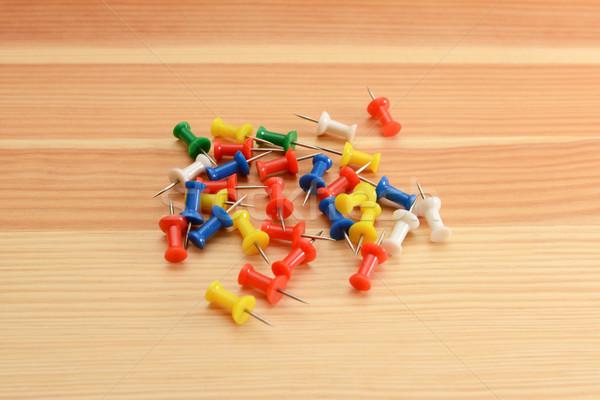 Coloured push pins Stock photo © sarahdoow