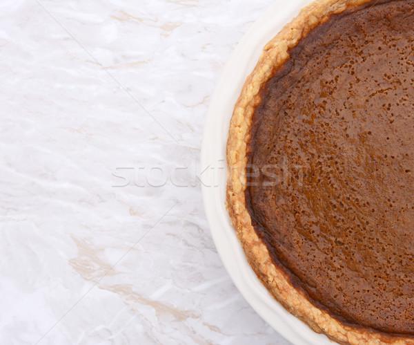 Homemade pumpkin pie with copy space Stock photo © sarahdoow