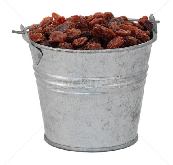 Raisins in a miniature metal bucket Stock photo © sarahdoow