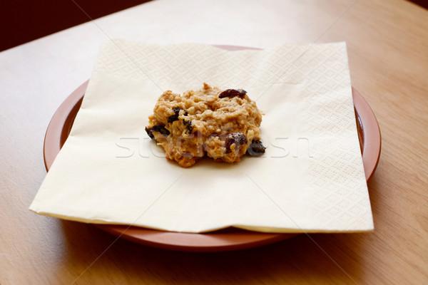 изюм Cookie салфетку Сток-фото © sarahdoow