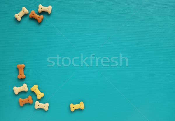 собака Печенье бирюзовый границе окрашенный Сток-фото © sarahdoow