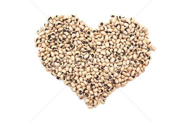 Stock photo: Black eyed peas in a heart shape