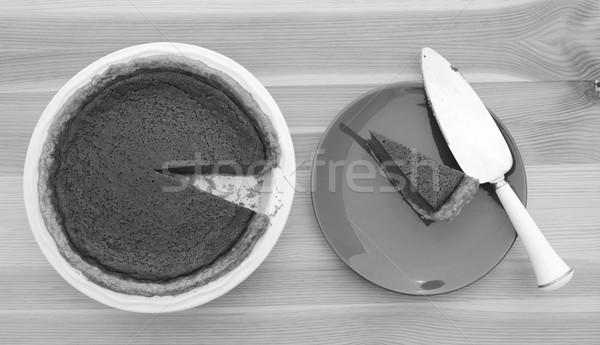 Fatia abóbora torta servidor prato monocromático Foto stock © sarahdoow