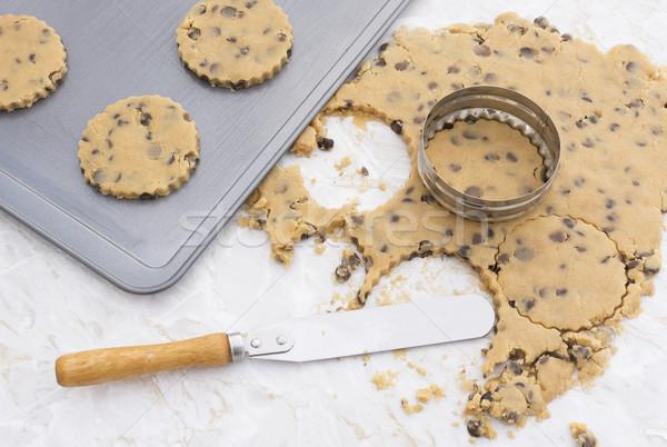 Baking chocolate chip cookies Stock photo © sarahdoow