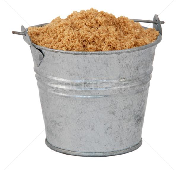 Light brown soft / muscovado sugar in a miniature metal bucket Stock photo © sarahdoow