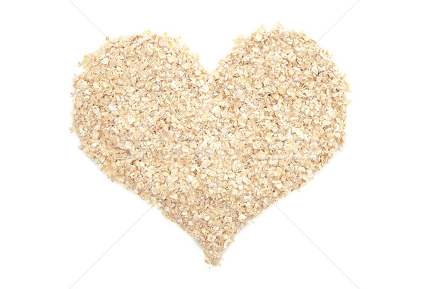 Porridge oats in a heart shape Stock photo © sarahdoow