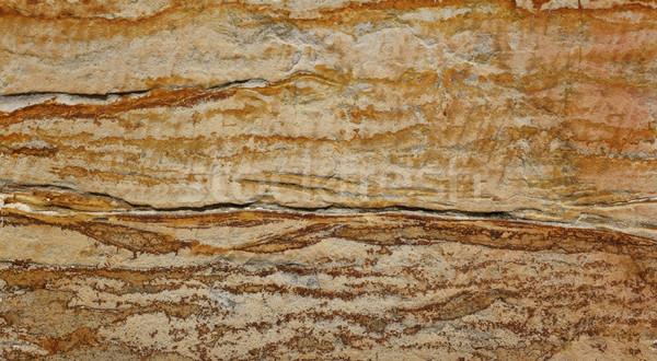 Sandstone block with bold markings Stock photo © sarahdoow