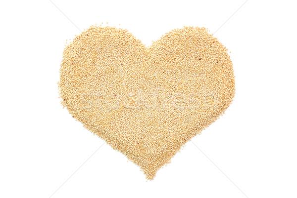 Quinoa in a heart shape Stock photo © sarahdoow