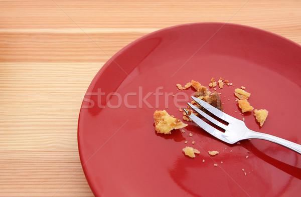 Citrouille tarte tranche fourche rouge Photo stock © sarahdoow