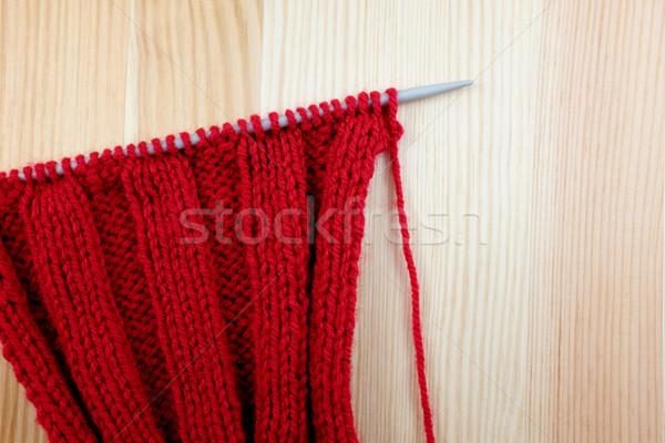 красный иглы ребро стежка древесины Сток-фото © sarahdoow
