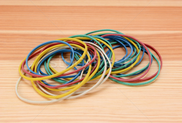 Large pile of coloured rubber bands Stock photo © sarahdoow