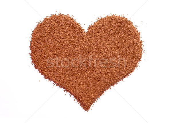 Instant coffee granules in a heart shape Stock photo © sarahdoow