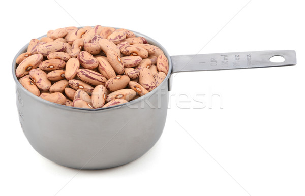 Borlotti beans in a measuring cup Stock photo © sarahdoow