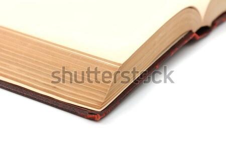 углу подробность пустая страница книга белый Сток-фото © sarahdoow