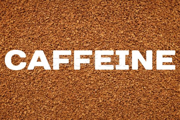Koffein szöveg instant kávé írott textúra absztrakt Stock fotó © sarahdoow