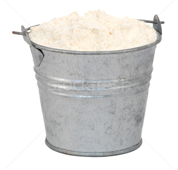 Plain / all purpose flour in a miniature metal bucket Stock photo © sarahdoow