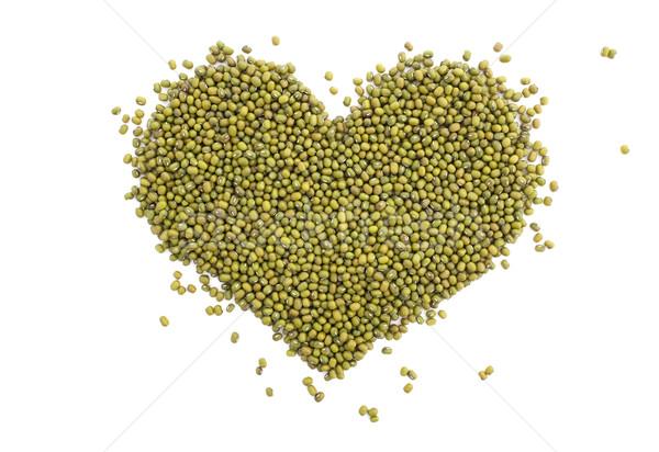 Mung beans in a heart shape Stock photo © sarahdoow