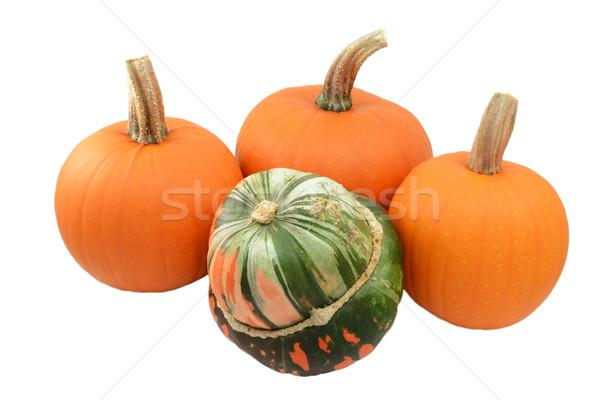 Zielone pomarańczowy turban miąższ trzy Zdjęcia stock © sarahdoow