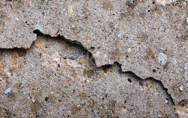 Chipped and broken smooth concrete surface Stock photo © sarahdoow
