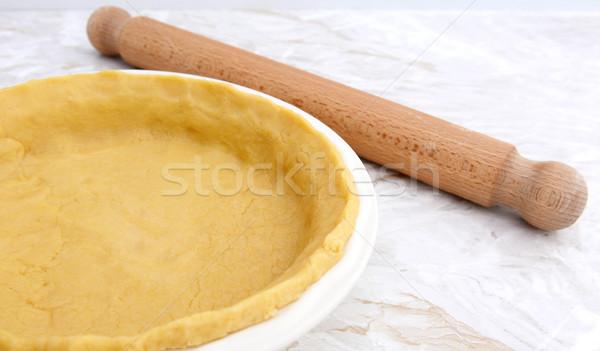 パイ 皿 ペストリー 麺棒 木製 キッチン ストックフォト © sarahdoow