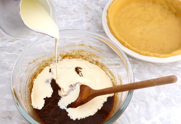 кремом тыква пирог заполнение удвоится Сток-фото © sarahdoow