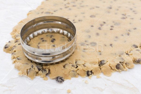 Cookie cutter cutting circle from cookie dough Stock photo © sarahdoow