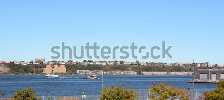 Stock photo: Ferry and work boat navigating the Hudson River