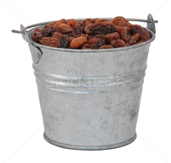 Zdjęcia stock: Miniatura · metal · wiadro · odizolowany · biały · żywności