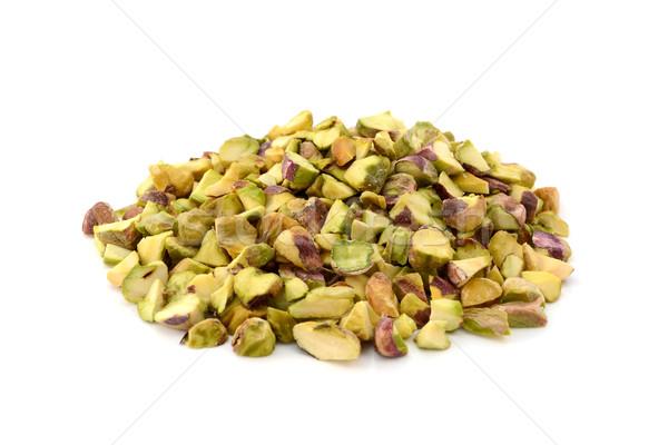 Picado pistacho nueces aislado blanco ingrediente Foto stock © sarahdoow