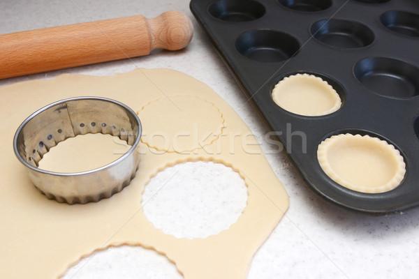 Foto stock: Estanho · círculos · fora