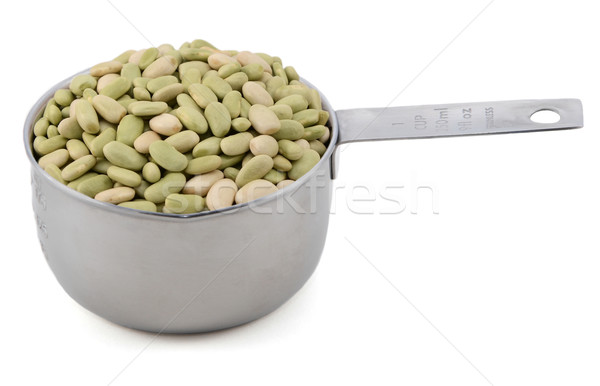 Flageolet beans in a cup measure Stock photo © sarahdoow
