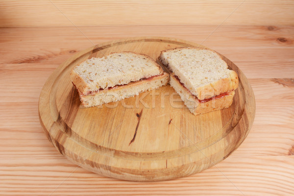 Beurre d'arachide confiture sandwiches Photo stock © sarahdoow