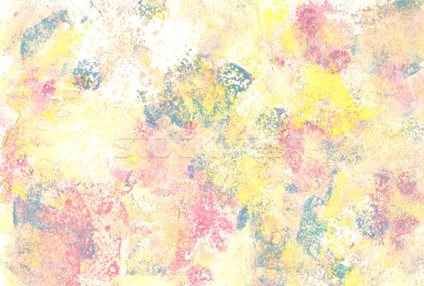 Pastel coloured abstract paint daubs Stock photo © sarahdoow