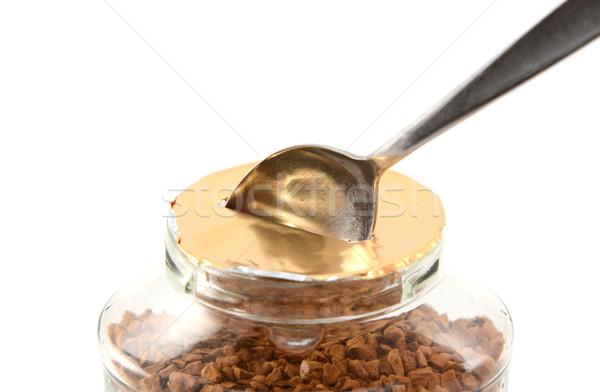 Teáskanál fóka bögre kávé első idő Stock fotó © sarahdoow