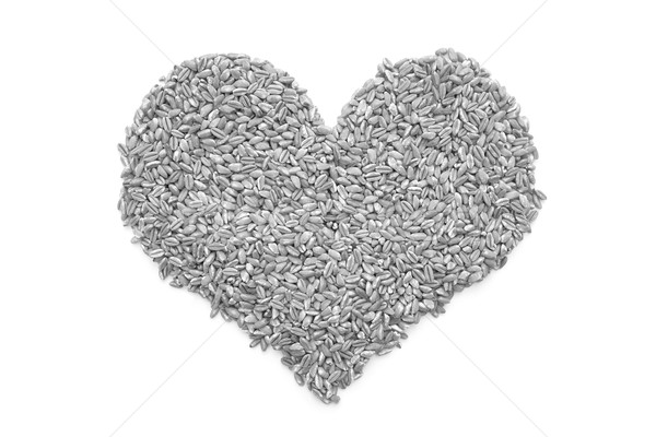 Farro dicocco in a heart shape Stock photo © sarahdoow
