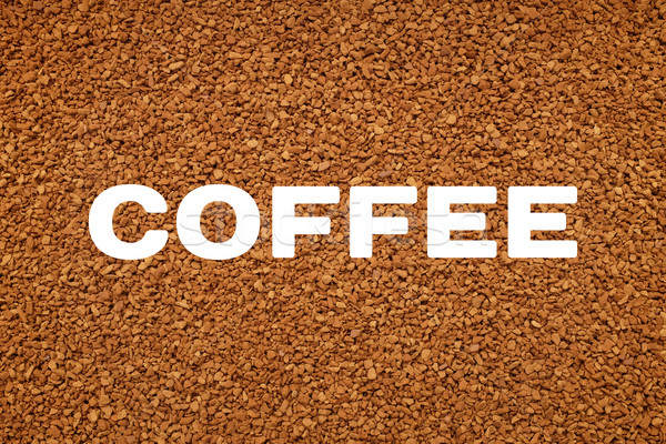 COFFEE text over background of freeze dried granules Stock photo © sarahdoow