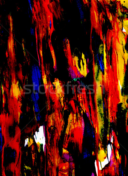 Black and bold colored paint smeared thickly Stock photo © sarahdoow