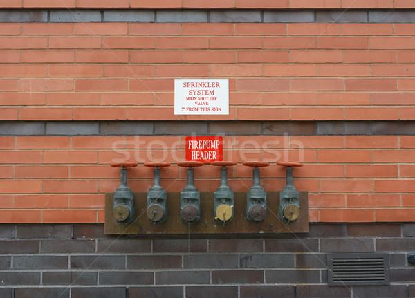 Test rouge mur de briques six test Photo stock © sarahdoow
