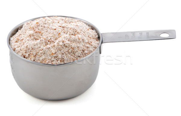 Wholemeal / wheatmeal / brown flour presented in an American met Stock photo © sarahdoow