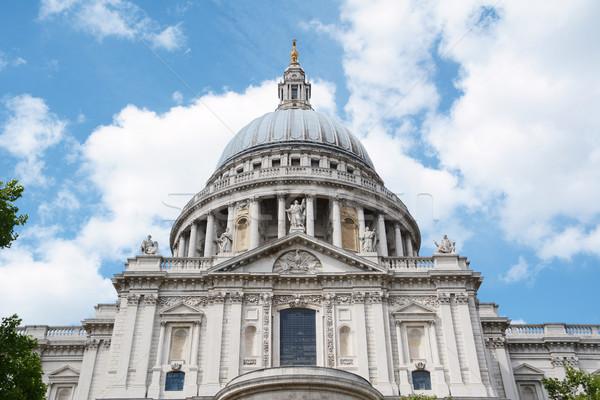 Południe fasada katedry angielski barokowy Londyn Zdjęcia stock © sarahdoow