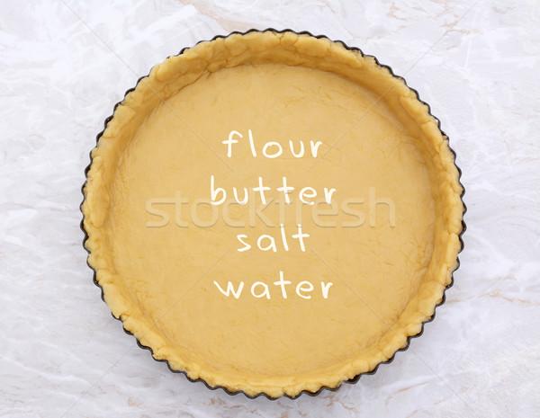 Konzervdoboz sütemény recept szöveg írott fém Stock fotó © sarahdoow