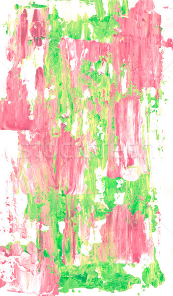 Abstract smears of pale pink and light green acrylic paint Stock photo © sarahdoow