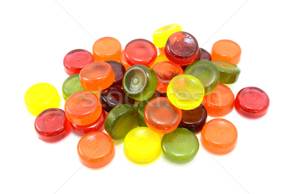Pile of multi-coloured boiled sweets Stock photo © sarahdoow