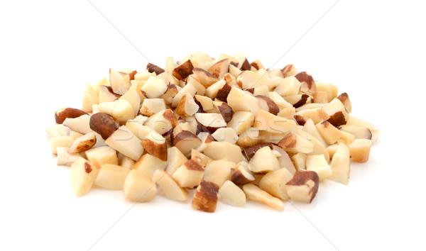 рубленый Бразилия орехи изолированный белый гайка Сток-фото © sarahdoow